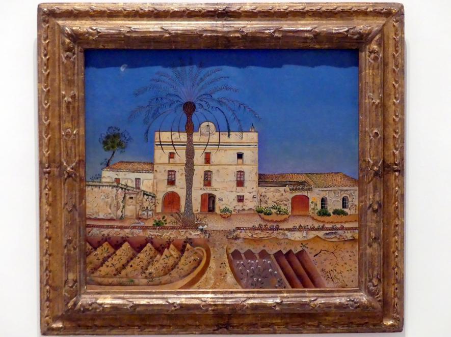 Joan Miró: Haus mit Palmen, 1918