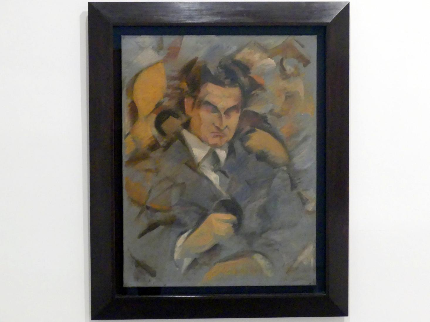 Rafael Barradas: Porträt des Schriftstellers Alberto Lasplaces, um 1920