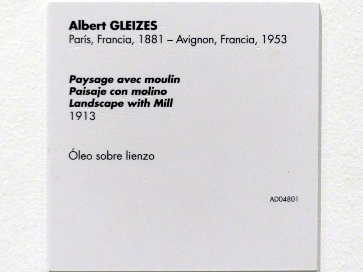 Albert Gleizes: Landschaft mit Mühle, 1913, Bild 2/2