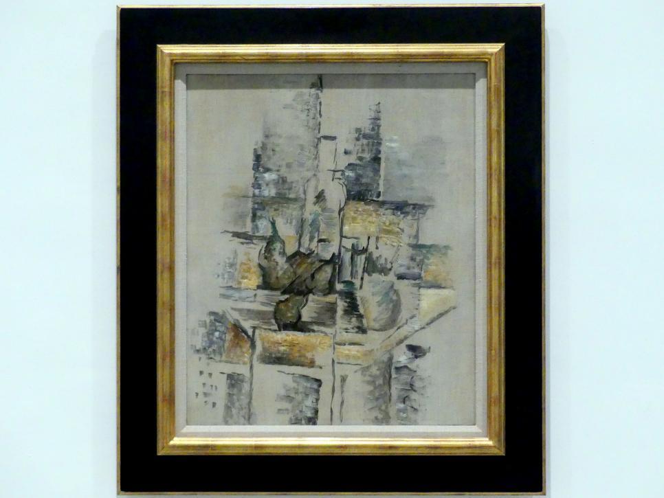 Georges Braque: Flasche und Obst, 1911