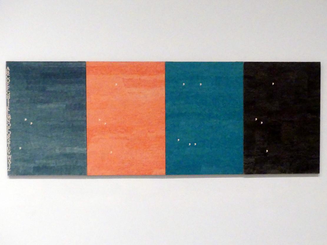 Alighiero Boetti: Eins Neun Sieben Neun, 1979
