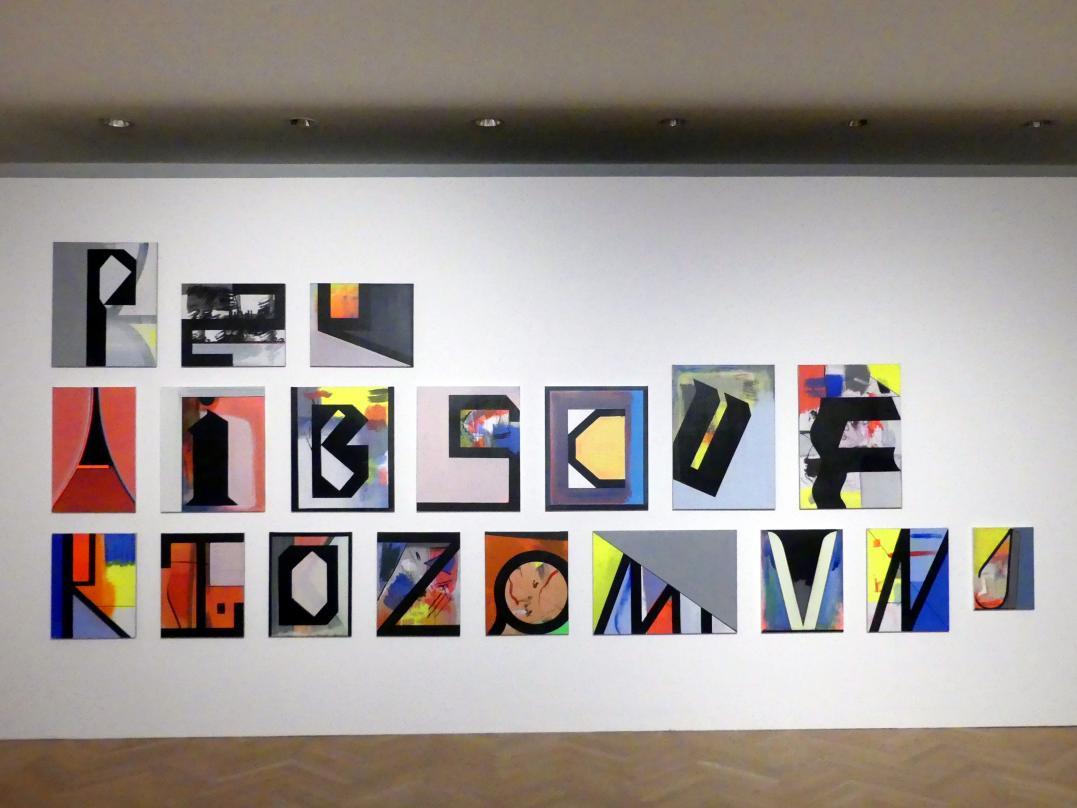 Thomas Scheibitz: Studie Alphabet, 2017 - 2019