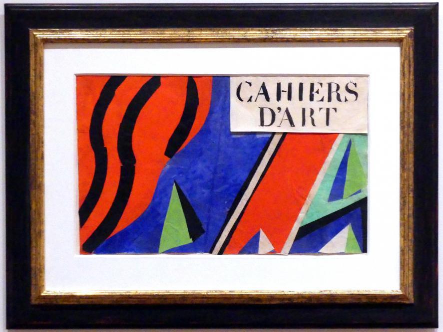 """Henri Matisse: Umschlagentwurf für """"Cahiers d'Art"""", 1936"""