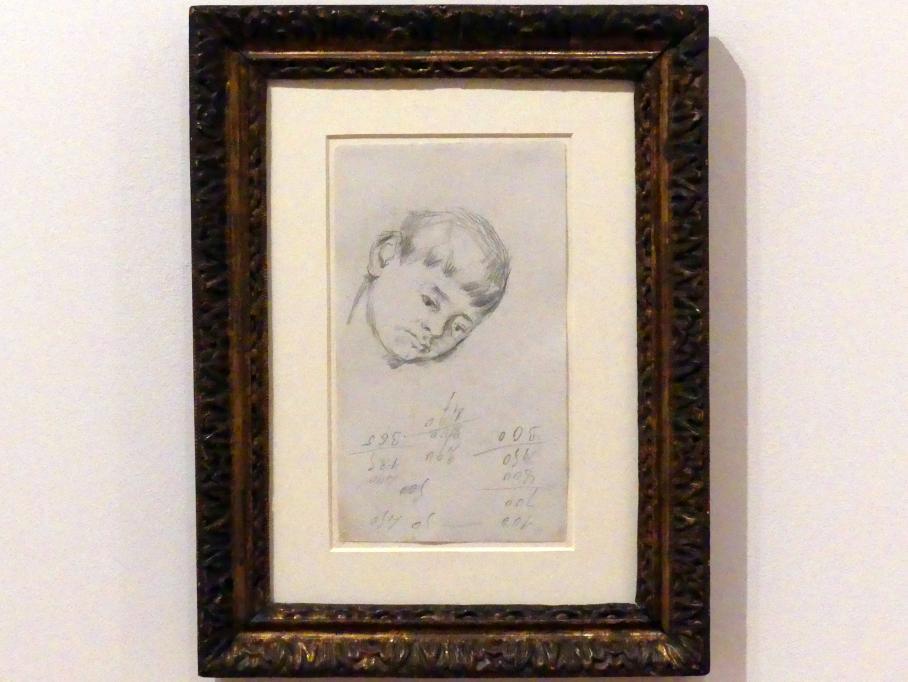 Paul Cézanne: Kopf eines jungen Badenden, 1882 - 1883