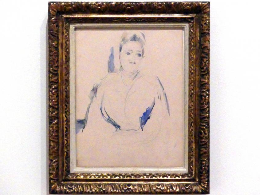 Paul Cézanne: Porträt von Madame Cézanne, um 1890