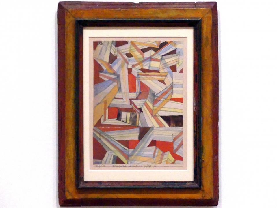 Paul Klee: transparent-perspectivisch gefügt (I), 1921