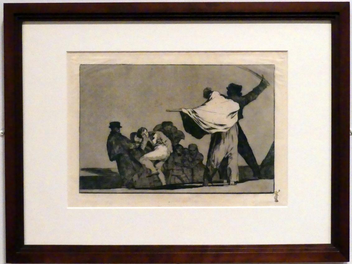 Francisco de Goya (Francisco José de Goya y Lucientes): Bekannte Torheit, auch: Was für ein Krieger, um 1815 - 1824