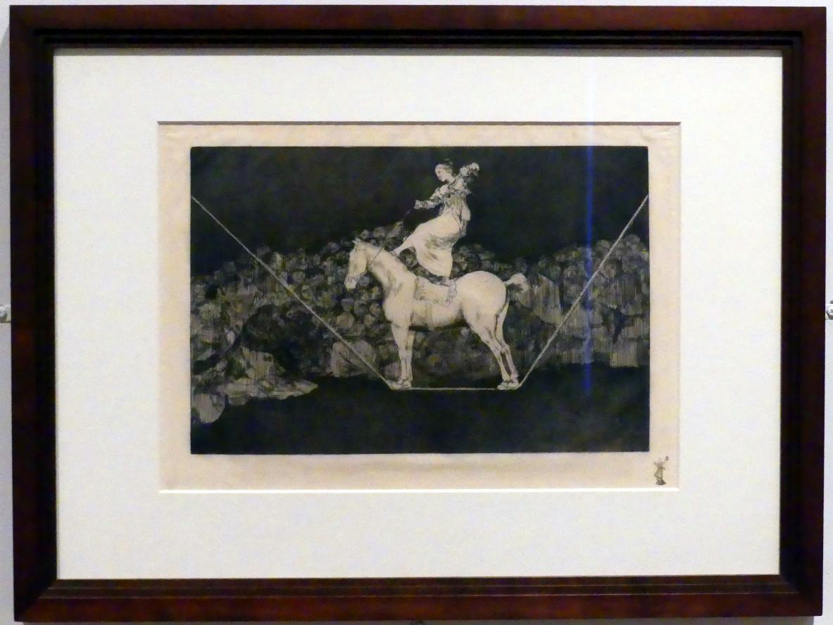 Francisco de Goya (Francisco José de Goya y Lucientes): Präzise Torheit, auch: eine Zirkuskönigin, um 1815 - 1824