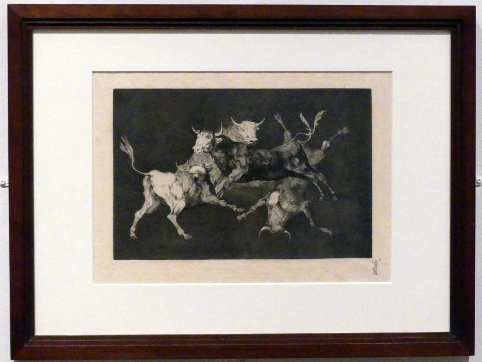 Francisco de Goya (Francisco José de Goya y Lucientes): Torheit der Narren, auch: Stiermenge, um 1815 - 1824