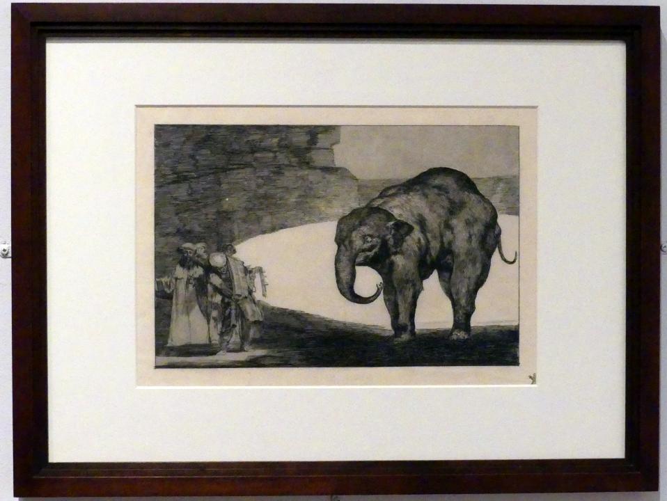 Francisco de Goya (Francisco José de Goya y Lucientes): Torheit des Tieres, auch: Andere Gesetze für das Volk, um 1815 - 1824