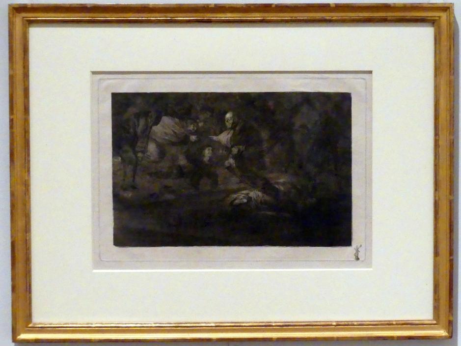 Francisco de Goya (Francisco José de Goya y Lucientes): Gott schafft sie und sie schließen sich zusammen, auch: Gespenstische Torheit, um 1815 - 1824