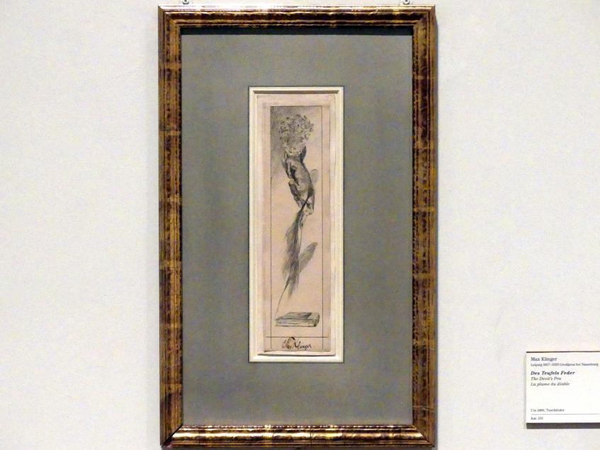 Max Klinger: Des Teufels Feder, um 1880