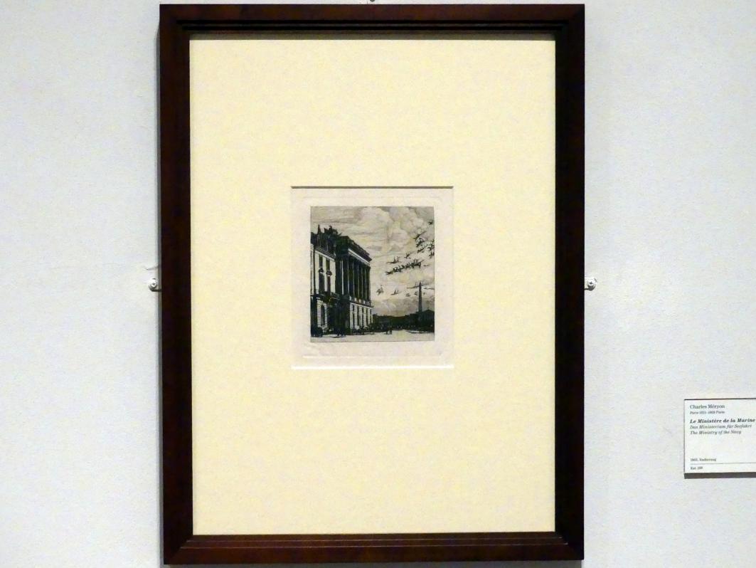 Charles Méryon: Das Ministerium für Seefahrt, 1865