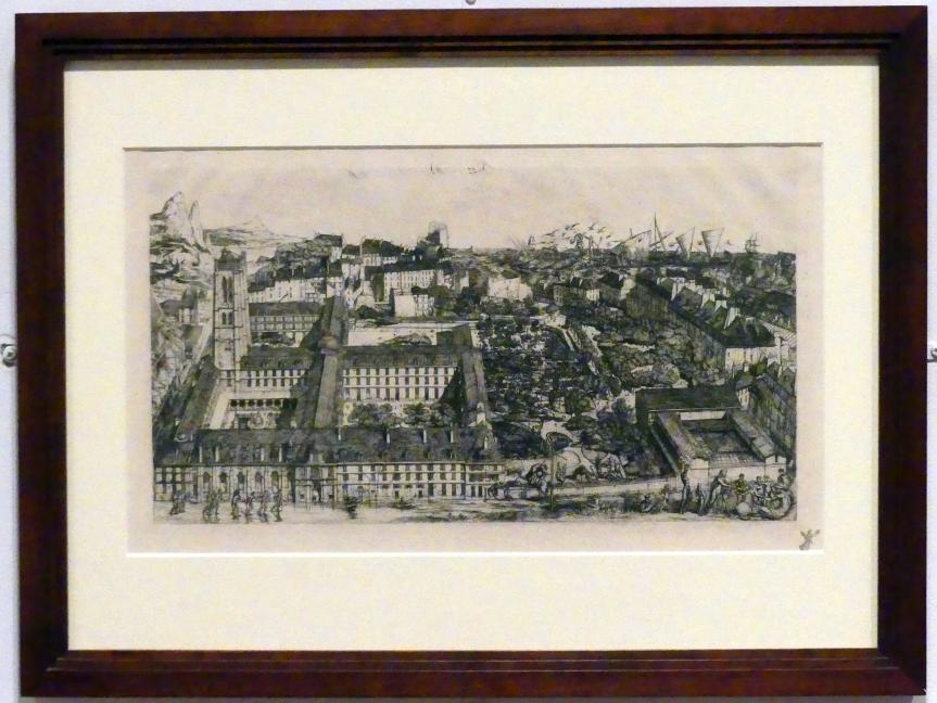 Charles Méryon: Collège Henri IV, ou: Lycée Napoléon, 1863 - 1864