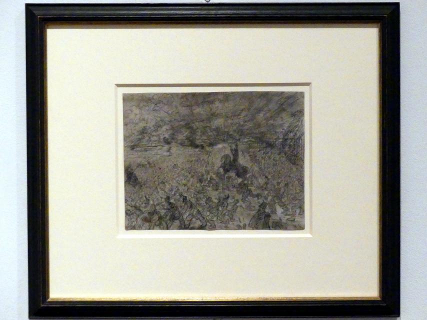 James Ensor: Josua unterbricht den Lauf der Sonne, 1885