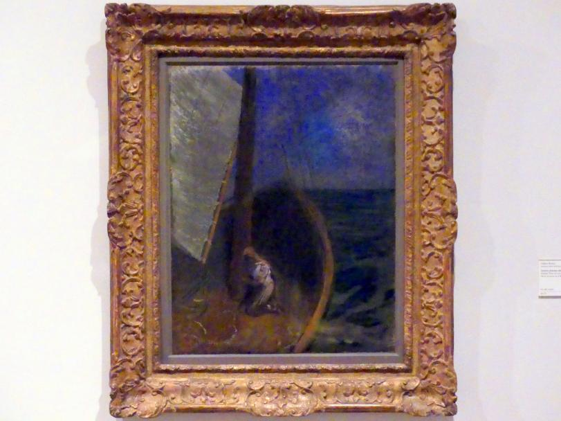 Odilon Redon: Heilige Frau in einer Barke, um 1897