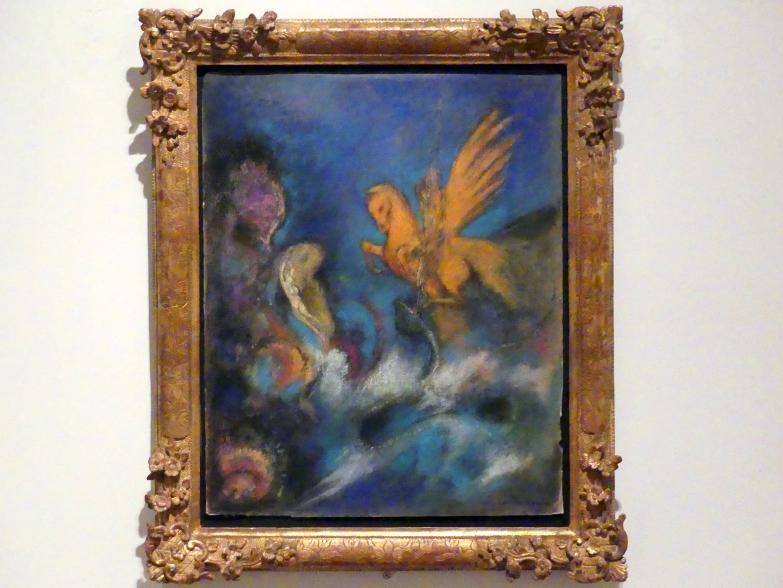 Odilon Redon: Roger und Angélique, auch: Perseus und Andromeda, um 1910