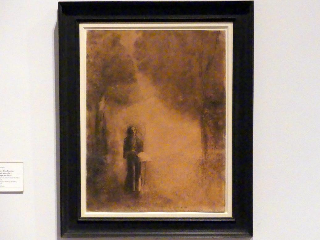 """Odilon Redon: Der Wanderer, Studie zu """"Schreitender Buddha"""", auch: Figur mit Buch, 1890 - 1895"""