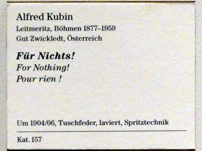 Alfred Kubin: Für Nichts!, um 1904 - 1906, Bild 3/3
