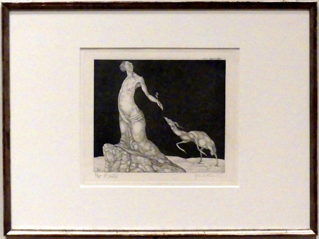 Paul Klee: Weib und Tier (1904, 13), 1904