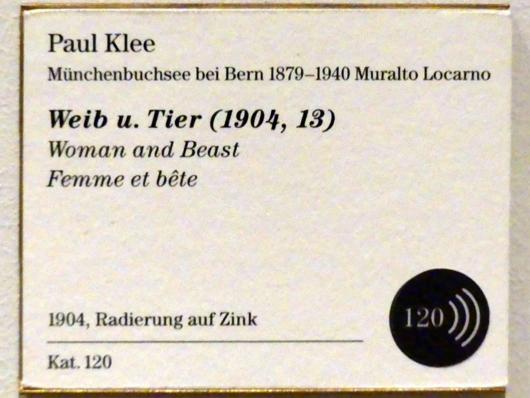Paul Klee: Weib und Tier (1904, 13), 1904, Bild 3/3