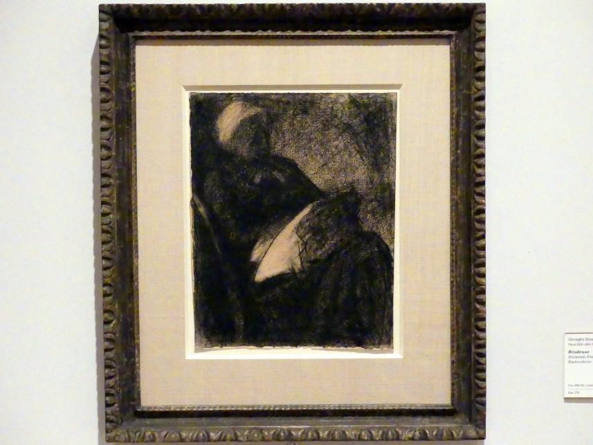 Georges Seurat: Stickende Frau, um 1881 - 1882