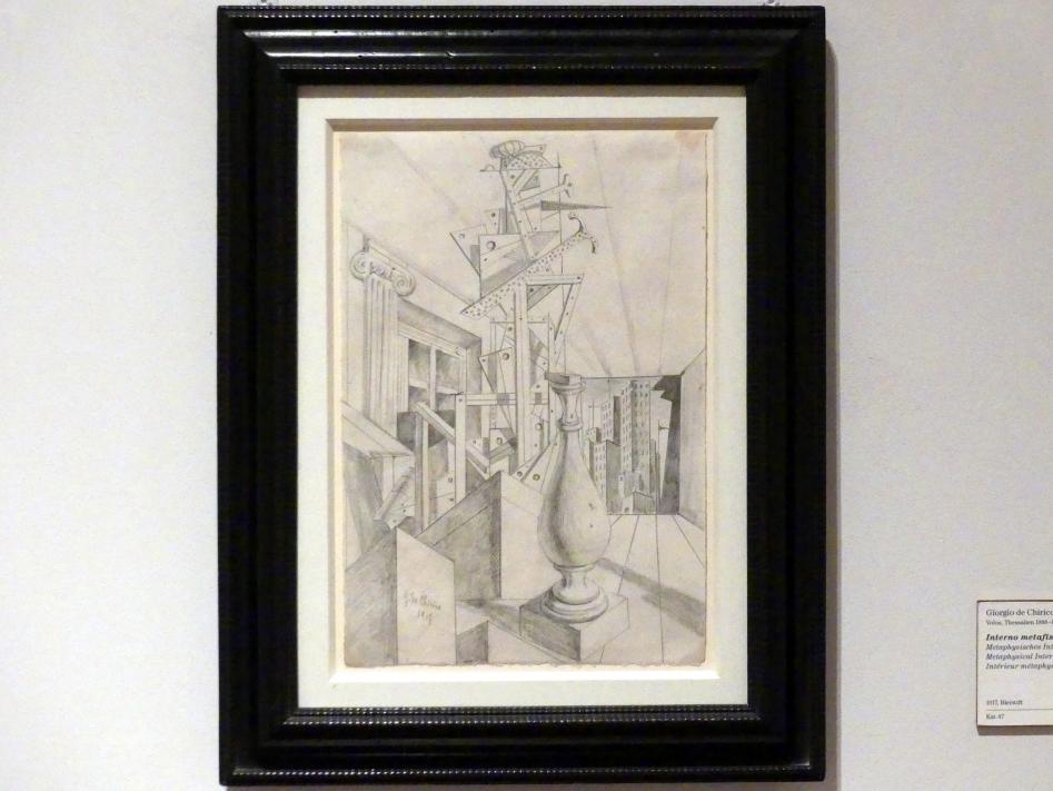 Giorgio de Chirico: Metaphysisches Interieur, 1917