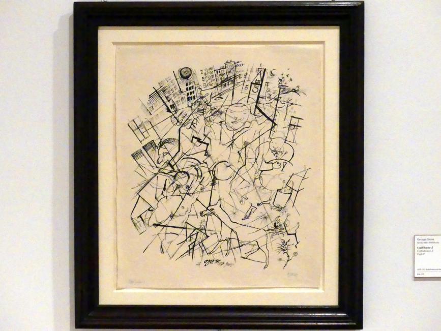 George Grosz: Caféhaus 2, 1918 - 1920