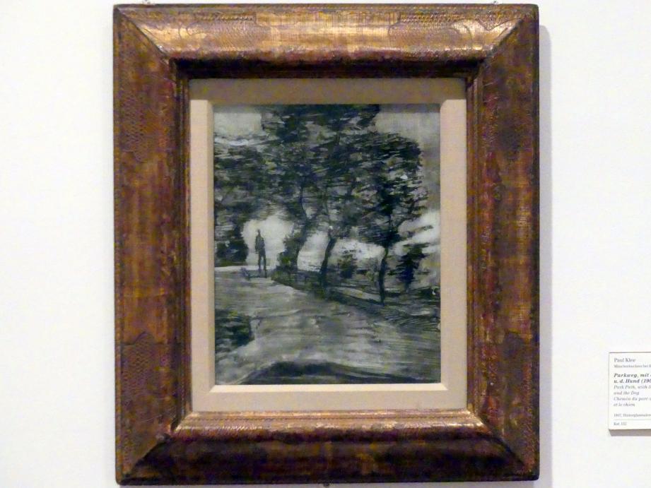 Paul Klee: Parkweg, mit dem Langen u. d. Hund (1907, 21), 1907