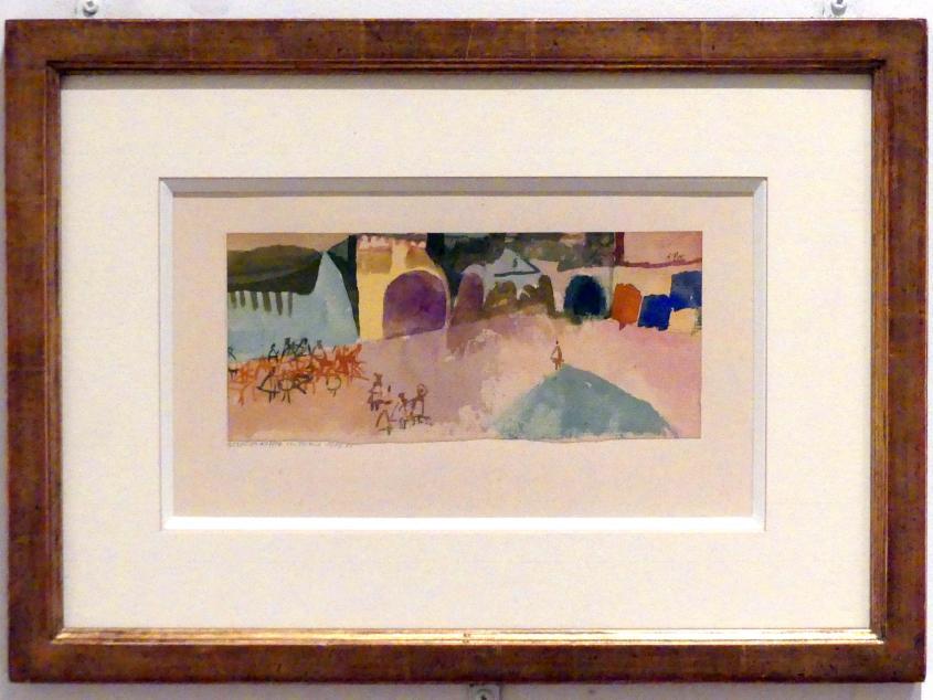 Paul Klee: Strassenkaffee in Tunis (1914, 55), 1914