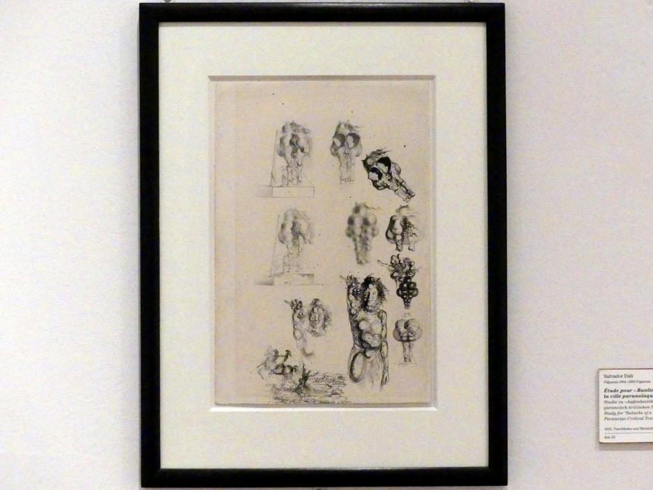 """Salvador Dalí: Studie zu """"Außenbezirk der paranoisch-kritischen Stadt"""", 1935"""