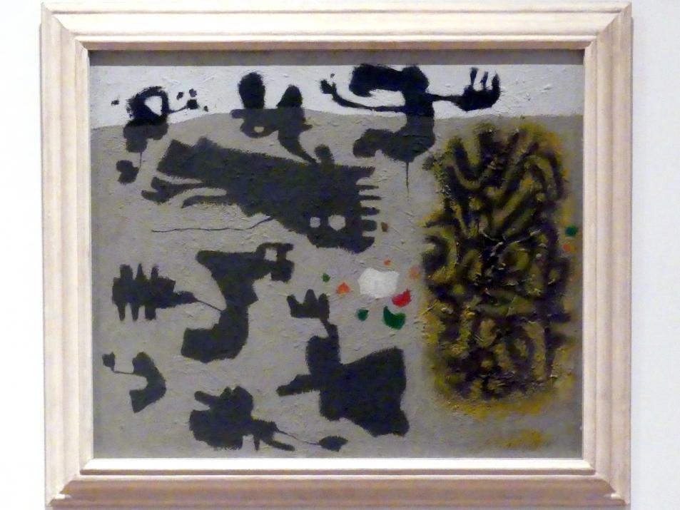 Willi Baumeister: Grau-Schwarz (mit Gelb-Grün), 1950