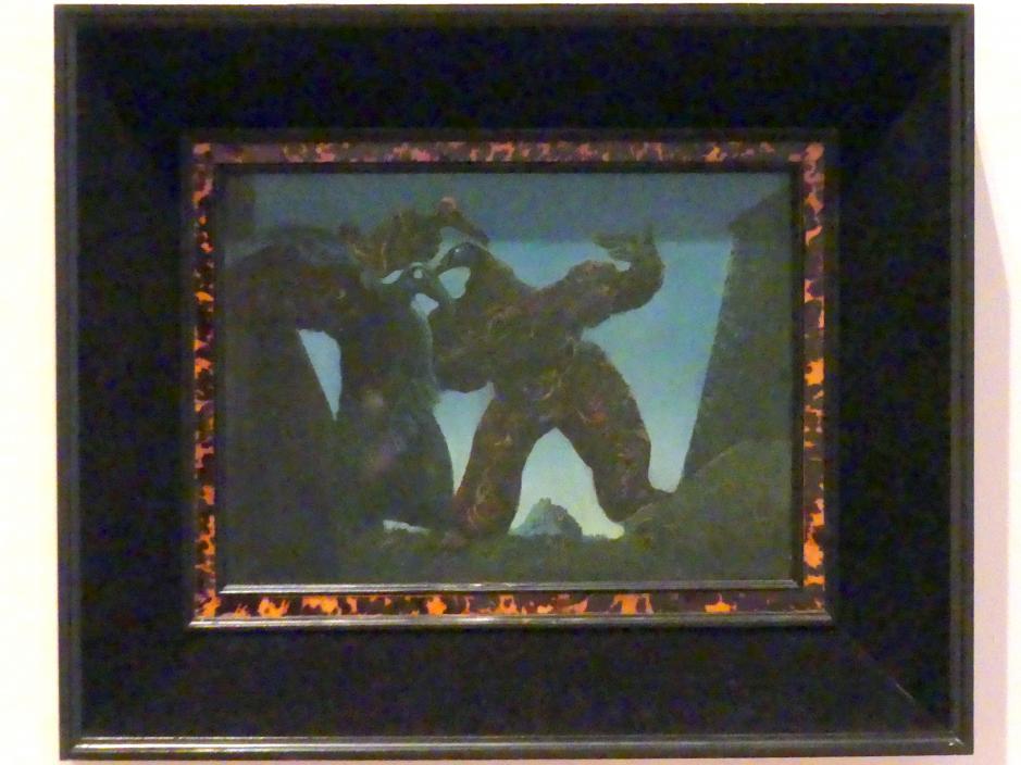 Max Ernst: Schlafwandlerische Taucher, auch: Barbaren gen Westen ziehend, 1936 - 1937