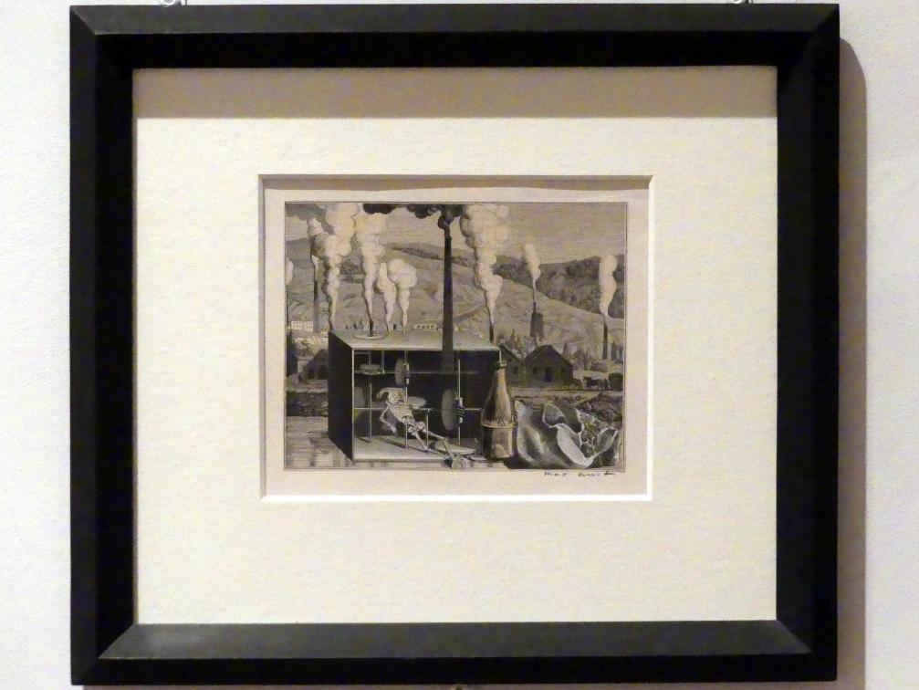 """Max Ernst: Illustrationsvorlage zu Hans Arp: """"Weißt du schwarzt du"""", 1929"""
