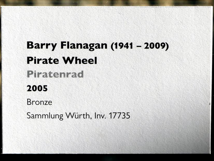 Barry Flanagan: Piratenrad, 2005, Bild 3/3