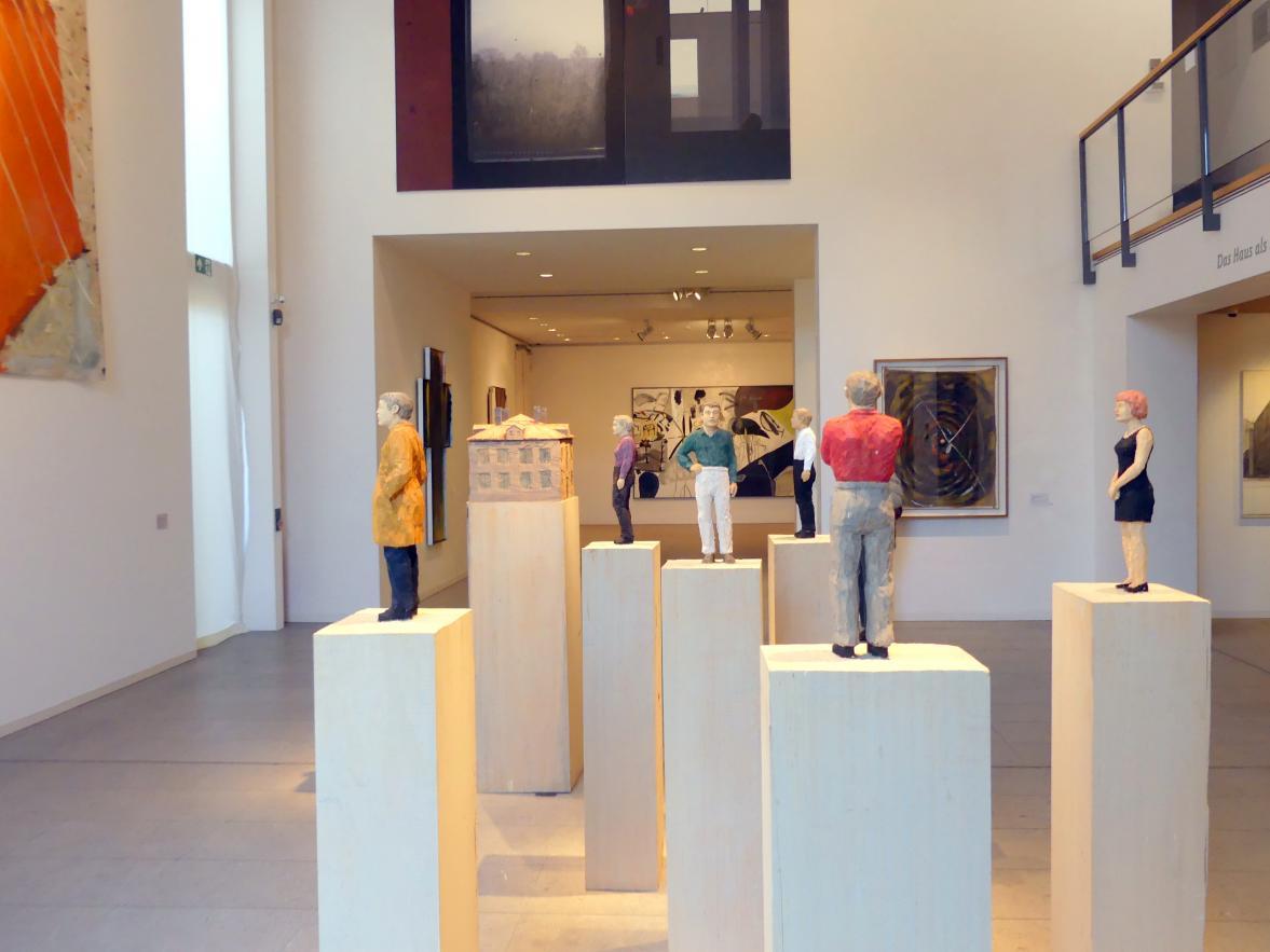 Stephan Balkenhol: 7 Figuren mit Haus, 2005 - 2006