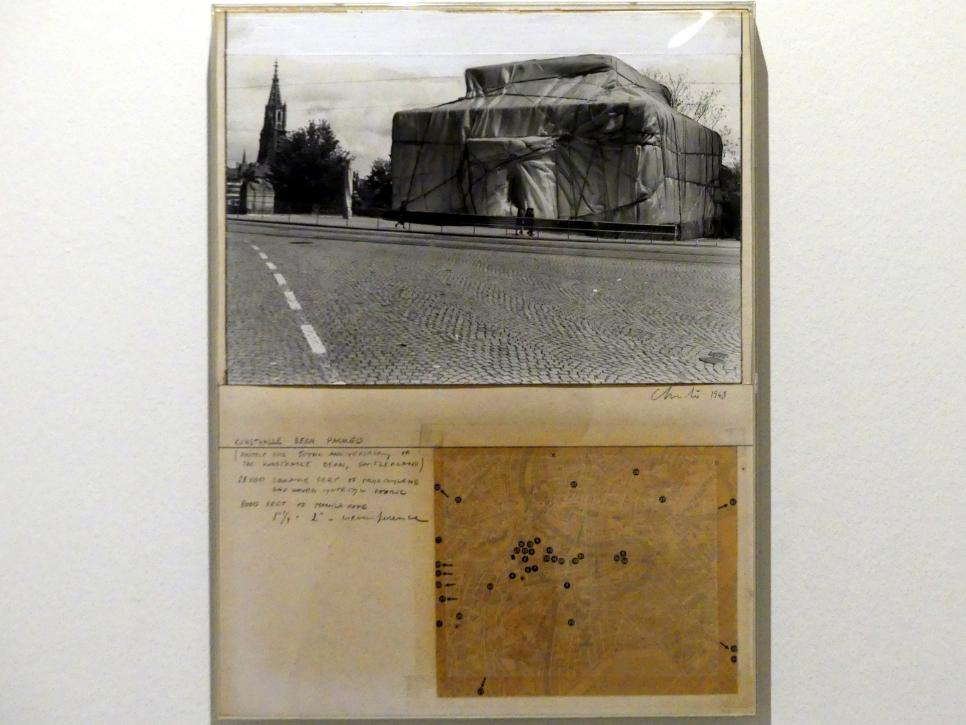 Christo: Kunsthalle Bern, Packed, Project for the 50th Anniversary of the Kunsthalle Bern, 1967 - 1968, Bild 5/6