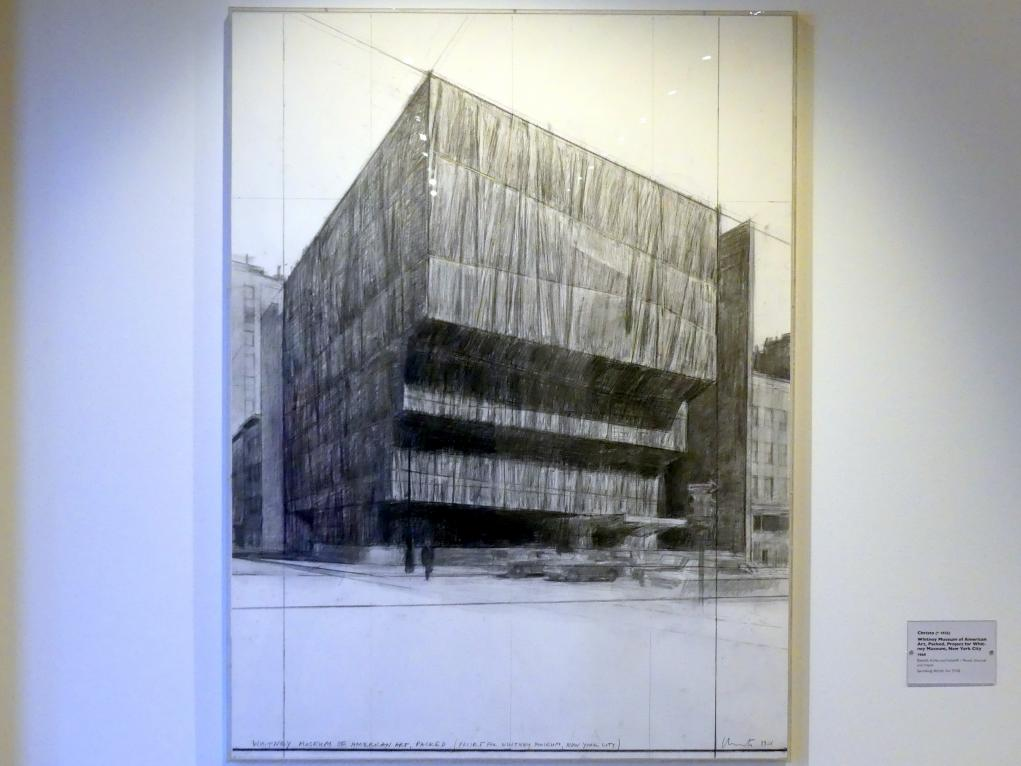 Christo: Whitney Museum of American Art, Packed, Project for Whitney Museum, New York City, 1968