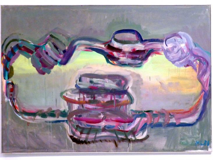 Maria Lassnig: Tischgesellschaft II, 1986