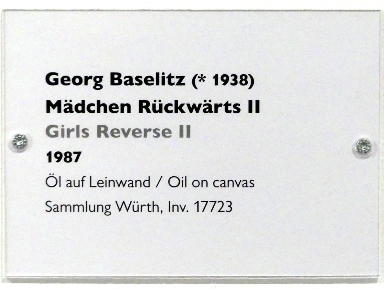 Georg Baselitz: Mädchen Rückwärts II, 1987, Bild 2/2
