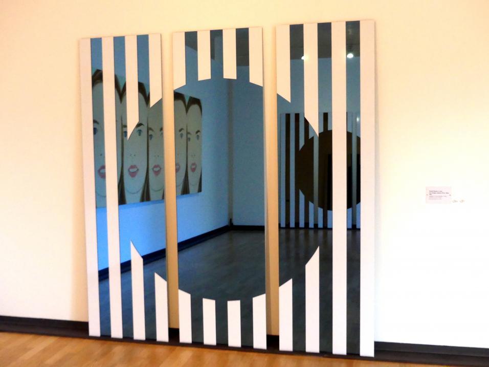 Daniel Buren: Les Visages colorés VI A - bleu, 2005