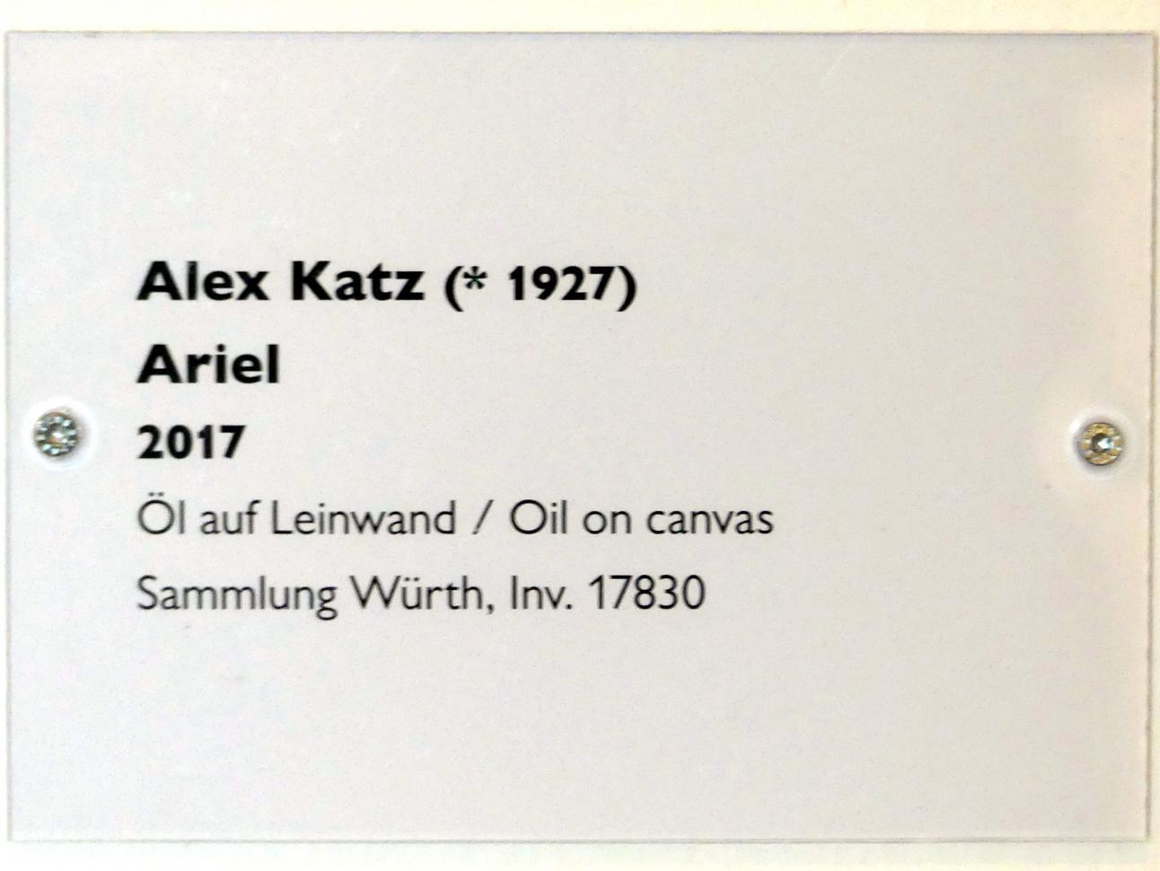 Alex Katz: Ariel, 2017, Bild 2/2