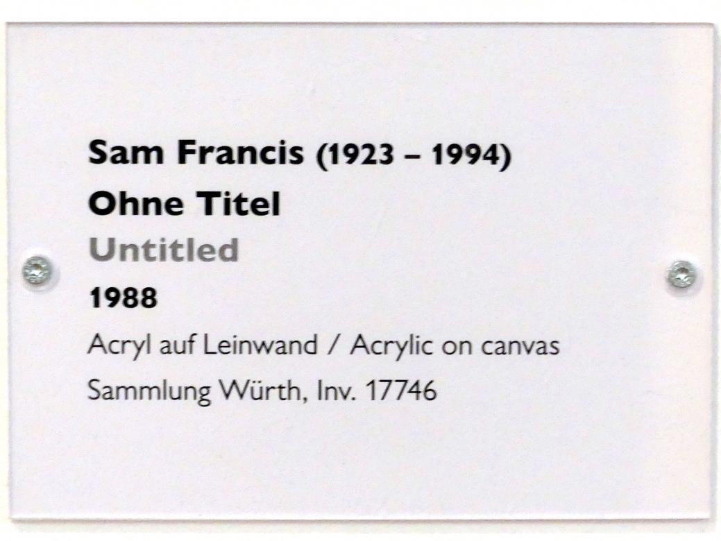 Sam Francis: Ohne Titel, 1988, Bild 2/2