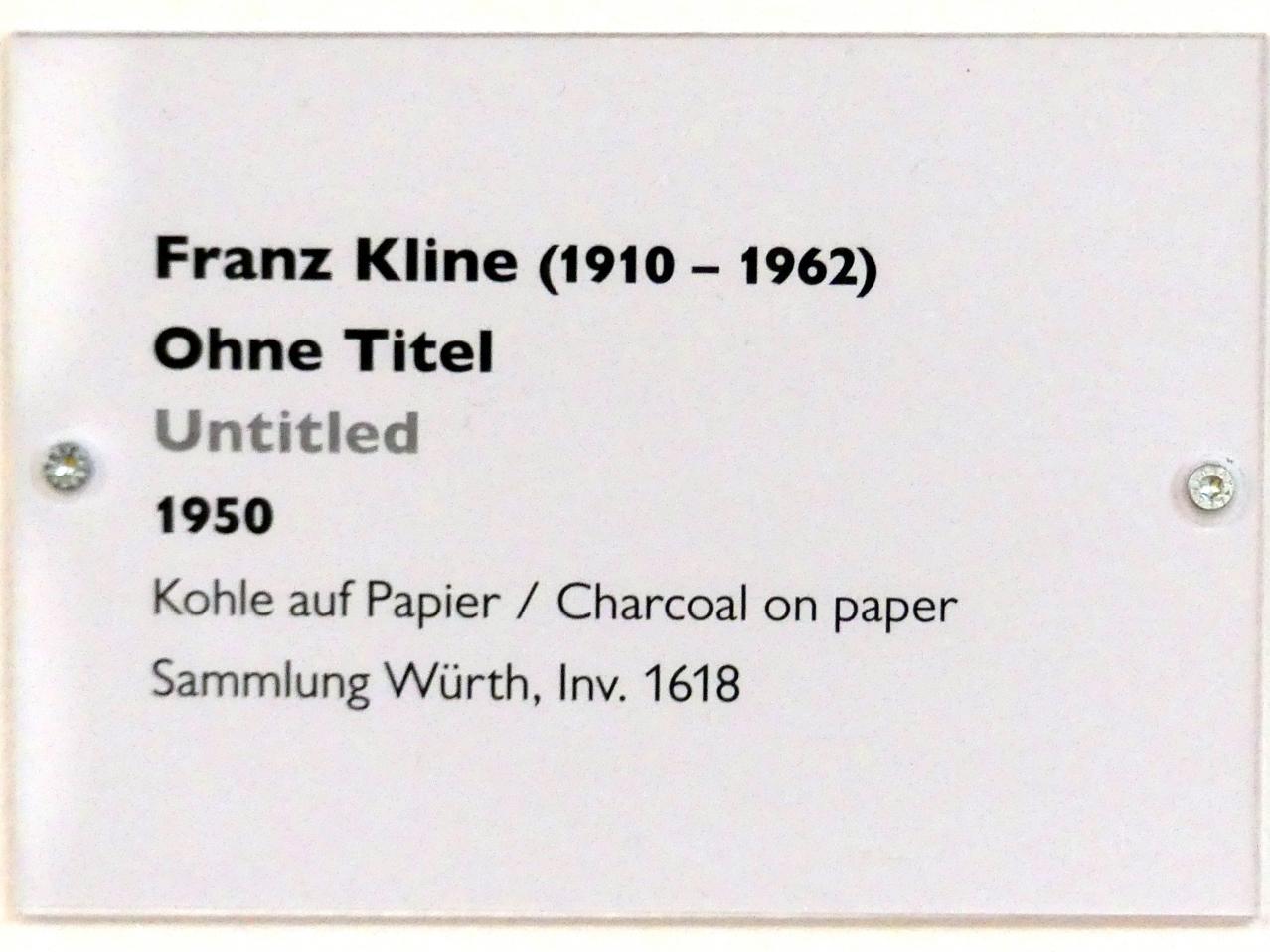 Franz Kline: Ohne Titel, 1950, Bild 2/2