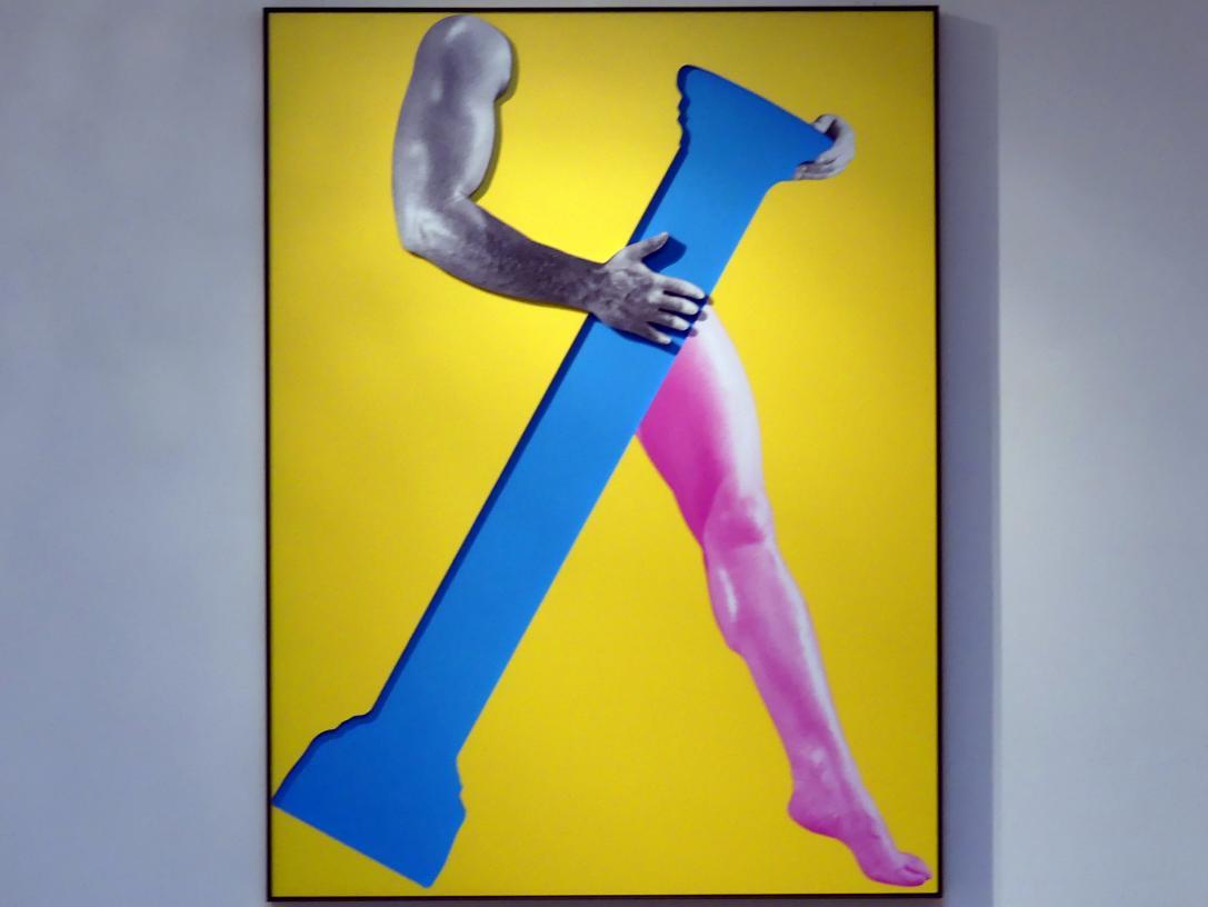 John Baldessari: Arms & Legs (Specif. Elbows & Knees), Etc. (Part One): Arm and Leg (With Column), 2007