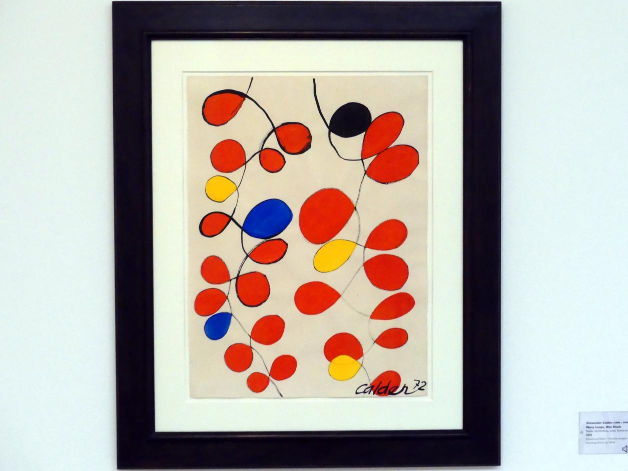 Alexander Calder: Viele Schleifen, eine Schwarz, 1972