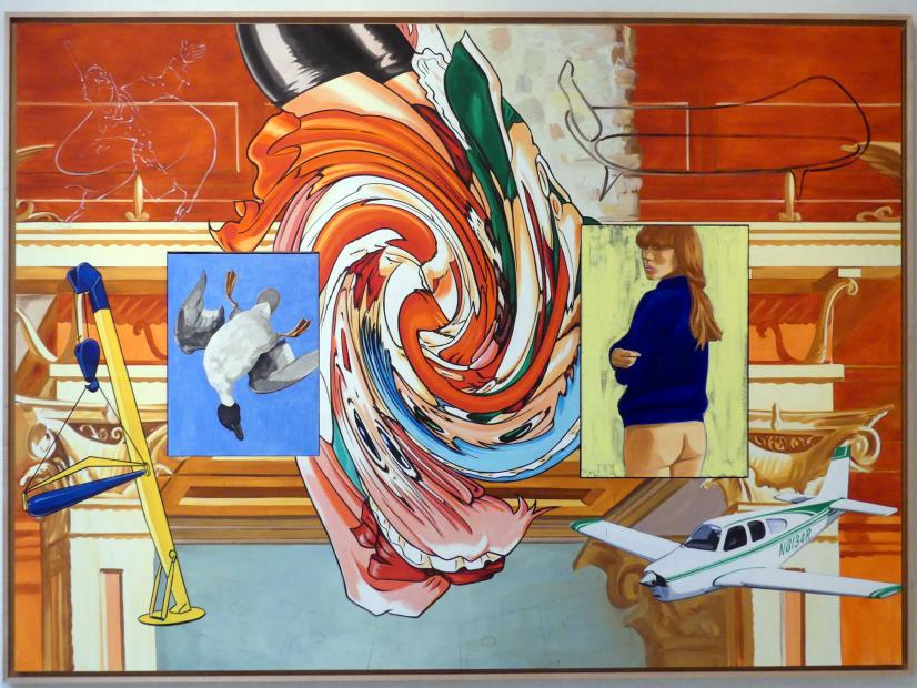 David Salle: Hinabfliegend, 2006