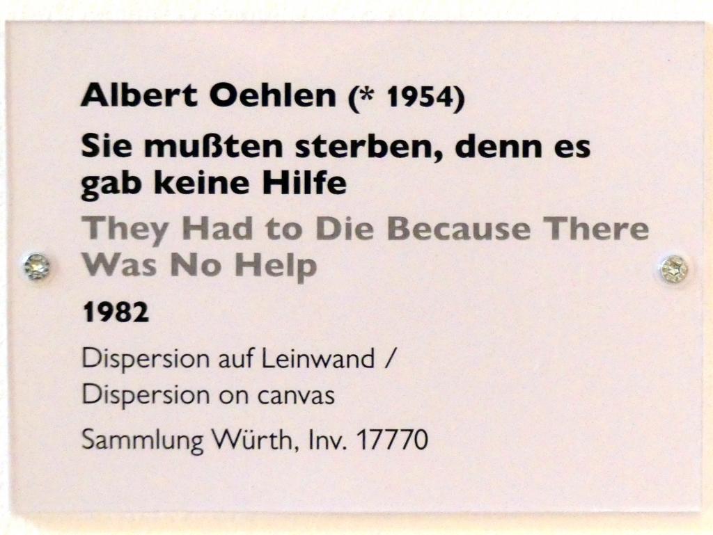 Albert Oehlen: Sie mussten sterben, denn es gab keine Hilfe, 1982, Bild 2/2