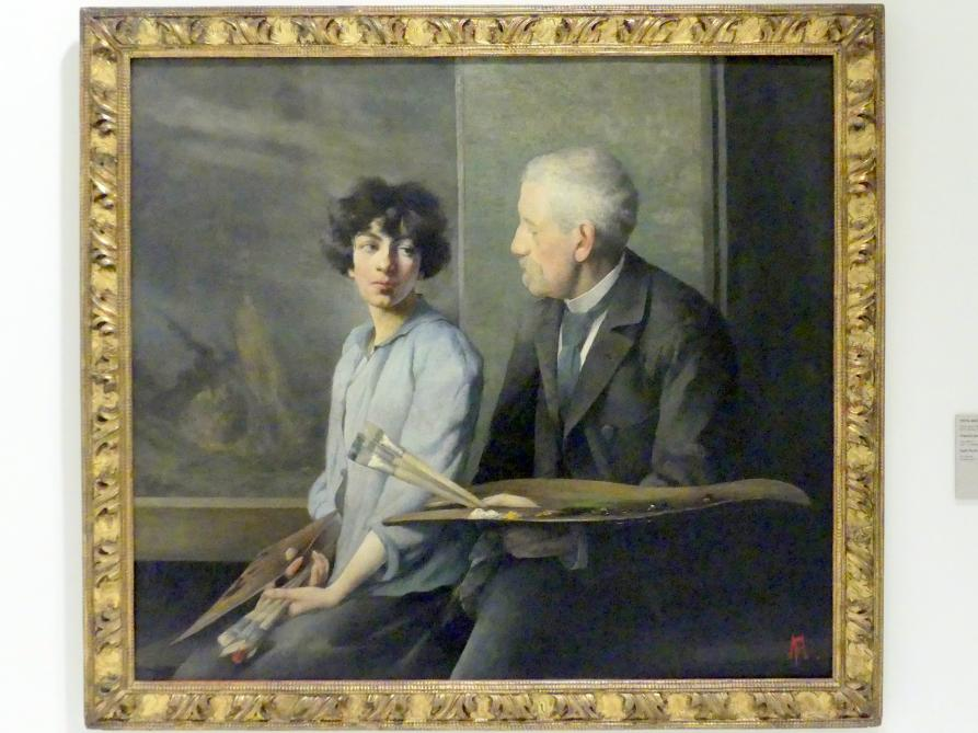 Pepa Mařáková (Josefina Mařáková): Selbstbildnis mit ihrem Vater, 1896
