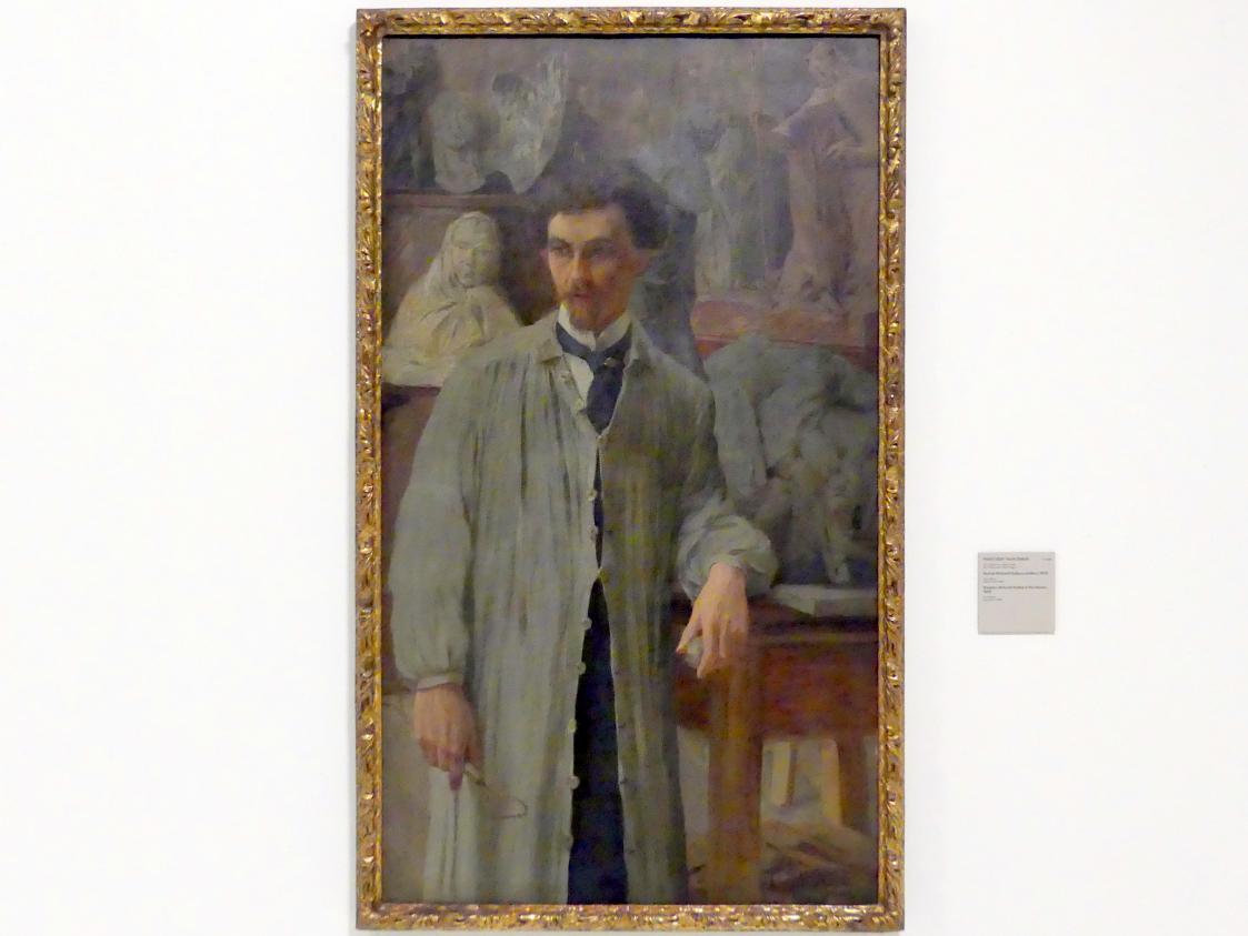 Tavík František Šimon: Bildhauer Bohumil Kafka in seinem Atelier, 1906